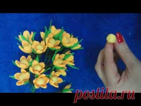Весенние цветы -мастер класс - YouTube