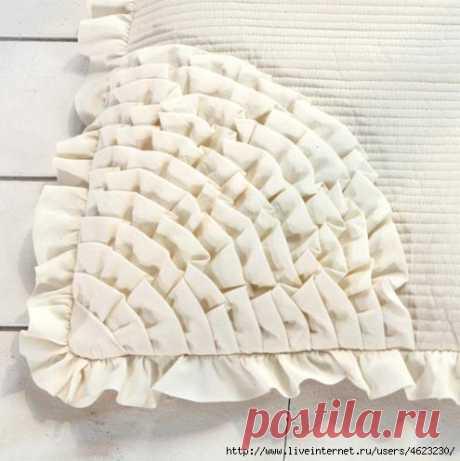 Уютные подушки-сидушки из лоскутов — Делаем руками