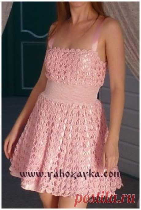 Платье «Перо ангела». Схема https://yahozayka.com/vyazanie-kryuchkom/tuniki-plat-ya-yubki/plat-e-pero-angela/