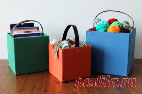 Коробки для хранения вещей своими руками - идеи на фото