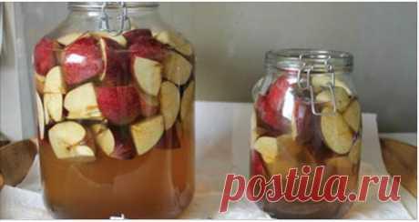 Как приготовить лучший яблочный уксус дома! ~ Шкатулка рецептов