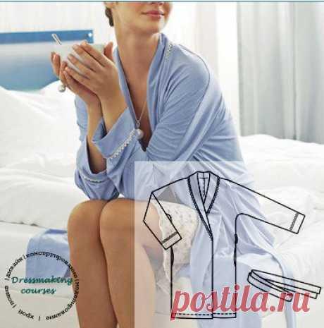 Выкройка трикотажного халата, размеры 40-60 российские Спасибо за выкройку группе  Дизайн|Пошив|Мастер-классы|Выкройки  #выкройки#выкройкиженские#выкройкибесплатные#выкройкахалатика