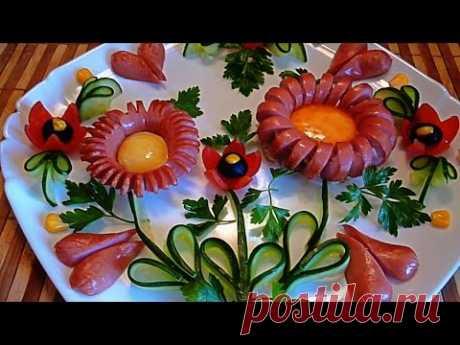 ¡Adornamientos de las salchichas! ¡Decoration of sausages! ¡Adornamientos hortalizas! ¡Decoration of vegetables!