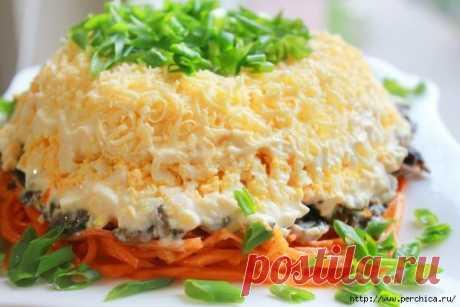 Рецепты салатов с жаренными грибами