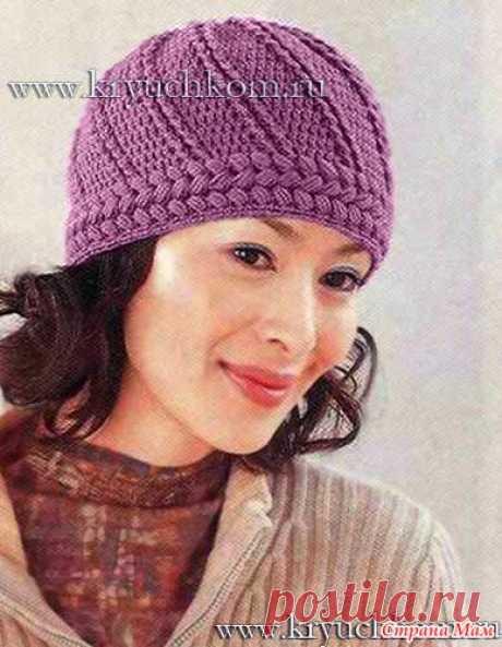 Очаровательная женская шапочка крючком - Вязание - Страна Мам