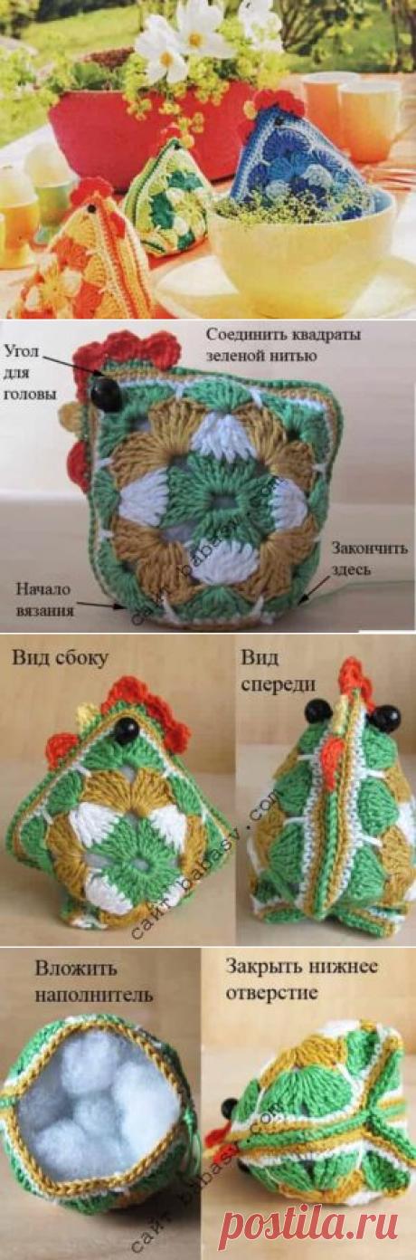 Бабушкины куры: 3 игрушки из мотивов связаны крючком