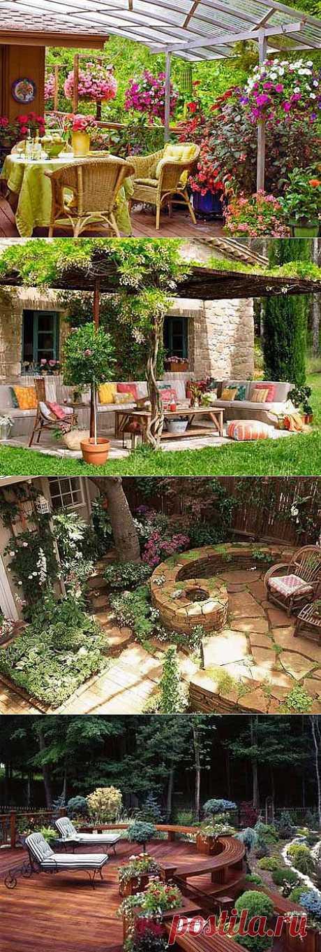 Дизайн дачного участка: патио в саду | ВСЁ ДЛЯ ДОМА
