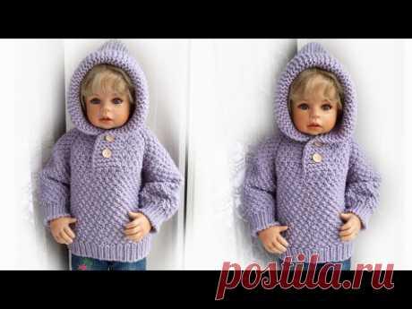Детская кофта спицами Росток Реглан мастер-класс/children's sweater