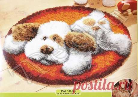 Пушистый объемный коврик со схемой
