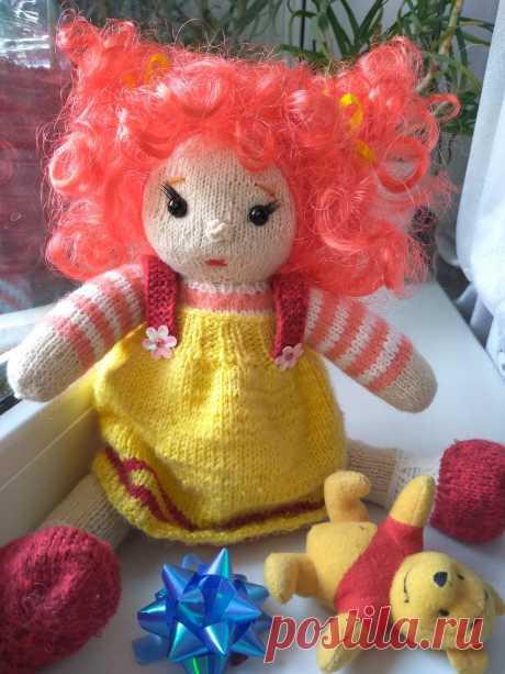 Вязаная кукла Светланка. Вязаные игрушки - подарок любимым