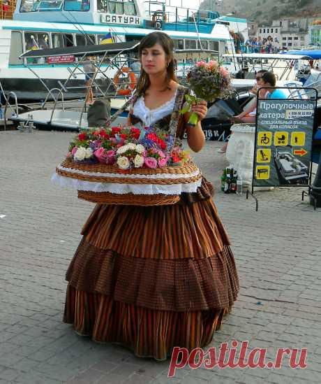 Цветочница из Балаклавы.