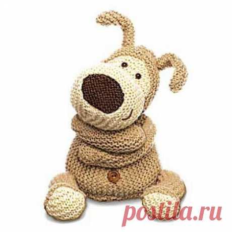 Собака спицами, 18 авторских описаний со схемами вязания и видео уроками, Вязаные игрушки