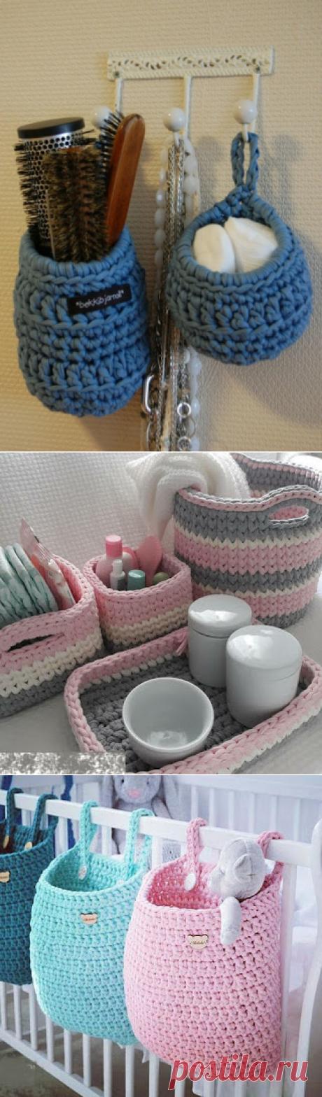 Вязание - модели и схемы: 20 нужных вязаных вещей для дома - идеи