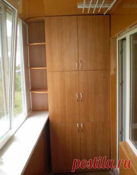 Шкаф на балконе — Роскошь и уют