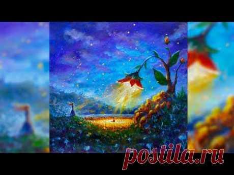 Как написать картину-фантазию 🎨 как нарисовать фантастический мир из головы - художник Рыбаков.