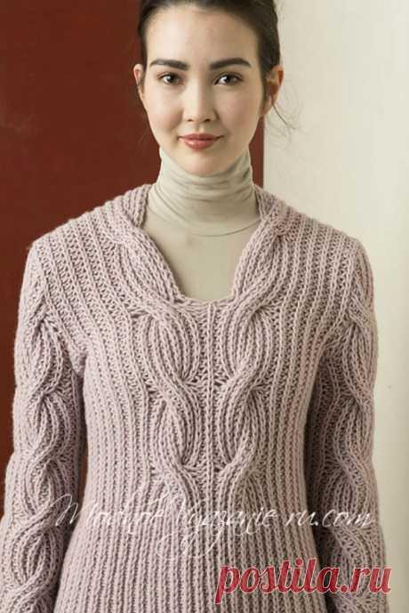 Пуловер патентным узором от LANGYARNS - Modnoe Vyazanie ru.com
