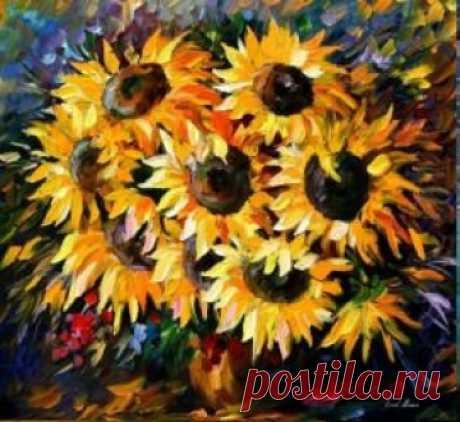 """вАлмазе RU - арт.14855 Алмазная мозаика """"Подсолнухи"""" [размер 40*50 см.] - 2280 руб. - под заказ"""