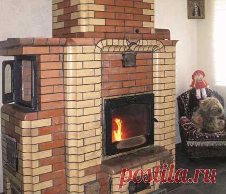Печь-камин из кирпича для двухэтажного дома: порядовки