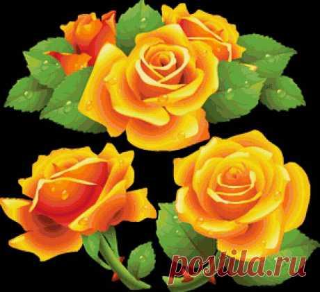 """Предпросмотр - Схема вышивки «подушка """"розы""""» - Автор «MorningBeauty» - Авторы - Вышивка крестом"""
