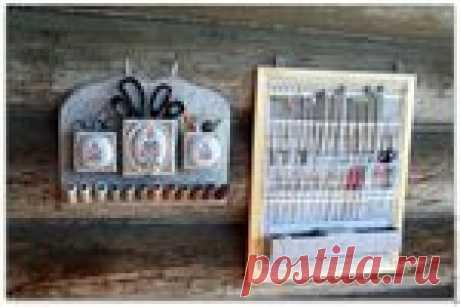 Изготавливаем органайзер для спиц и крючков своими руками!