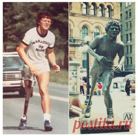 Терри Фокс бежит в окровавленных шортах во время Марафона надежды через Канаду, июль 1980 г / Взлом логики