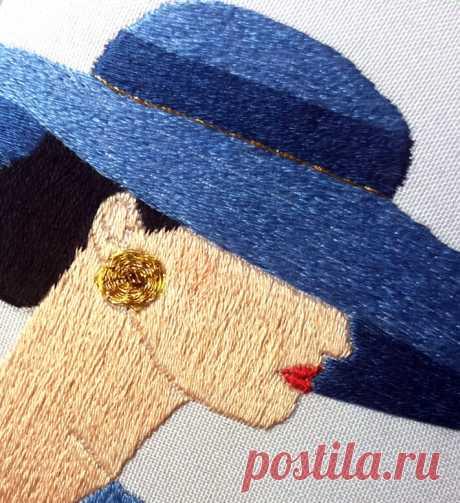 Гладь как вид вышивки | ВЕРА БУРОВА, канал про вышивку | Яндекс Дзен
