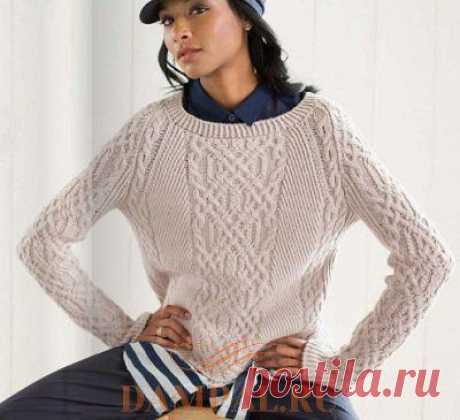 Женский пуловер «Ярмут» — HandMade