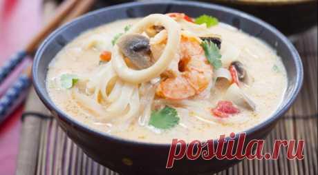 Тайский горшок с морепродуктами, пошаговый рецепт с фото