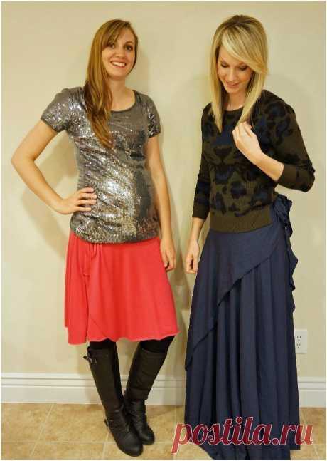 2 юбки с запахом (простые выкройки).