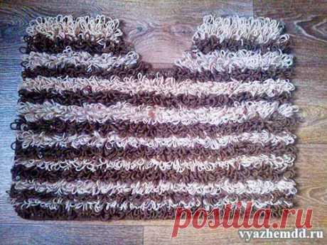Как связать коврик крючком на резиновой основе
