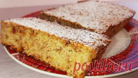 Вкусный и полезный пирог из овсянки.Подробный рецепт.