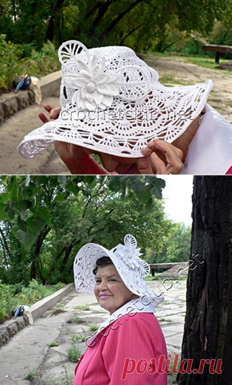 Экстравагантная шляпа, связанная крючком - Вязание Крючком. Блог Настика