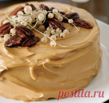 Простой карамельный крем для тортов и пирожных