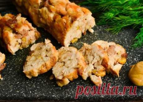 Домашняя куриная колбаса в рукаве