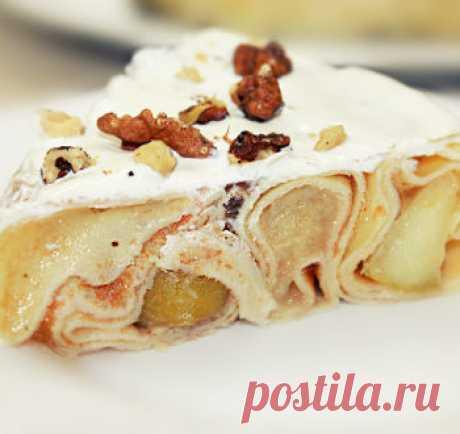 Блинный торт - cамый простой торт из блинов / Видео-рецепты / TVCook: пошаговые рецепты с фото