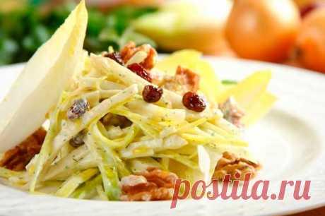 Салат с луком пореем и яблоком – пошаговый рецепт с фото.