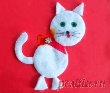 «Поделки-аппликация из ватных дисков для детей Кот из ватных дисков ...» — карточка пользователя Виталий В. в Яндекс.Коллекциях