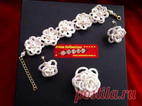 """Weiteres - Armband, Ohrringe, Brosche """"Blumen des Sommers"""" - ein Designerstück von Irina_Harnisch bei DaWanda"""