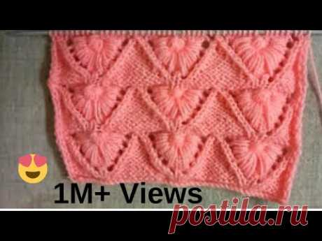 Easy Single Color Knitting Pattern No.104|Hindi - YouTube