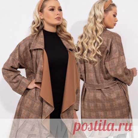 ✧ Запашное пальто с поясом купить недорого