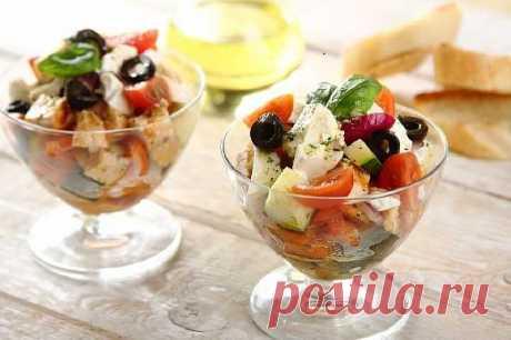 Салат с курицей по гречески - рецепт с фото | Cookingfood.com.ua