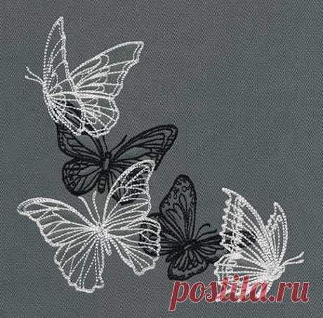 Flight & Dark Butterflies - Corner / городские темы: уникальные и удивительные дизайны вышивки