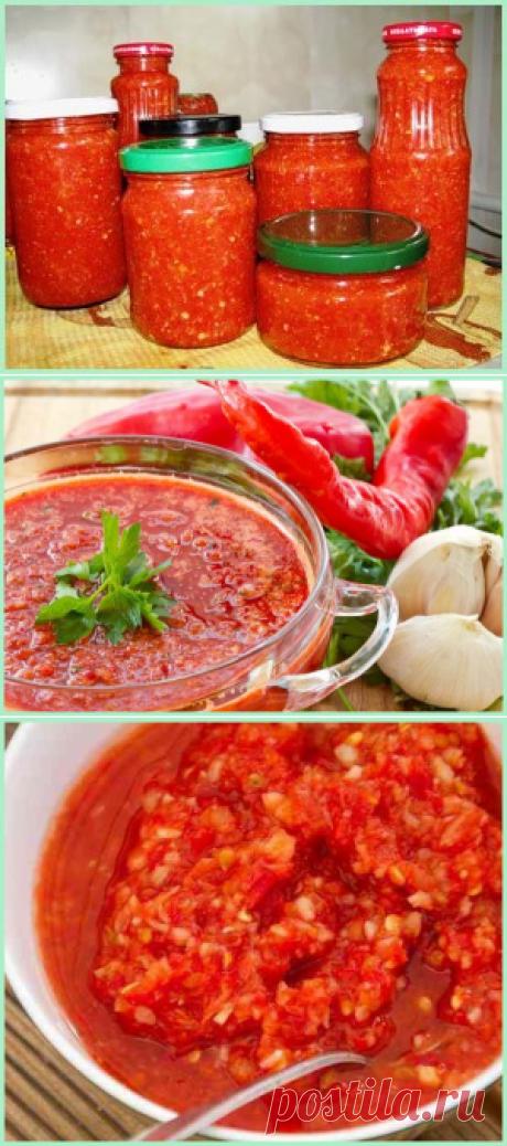 Аджика с чесноком и помидорами без варки и 5 других рецептов жгучей приправы на зиму