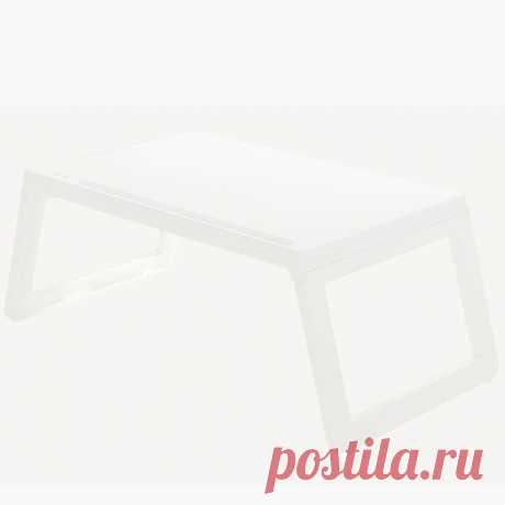 Simple Style Laptop Desk Folding Small Square Table Made of PP Material for Home - US$33.99