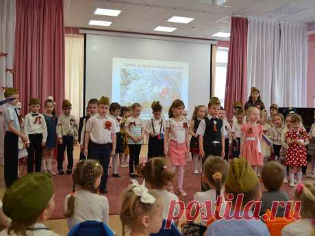 Kids of Molzhaninovsky district along with all celebrated the Victory Day