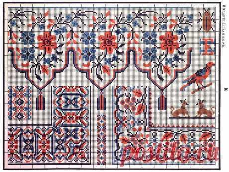 Сборник русских народных схем-узоров для вышивания крестом — Сделай сам, идеи для творчества - DIY Ideas
