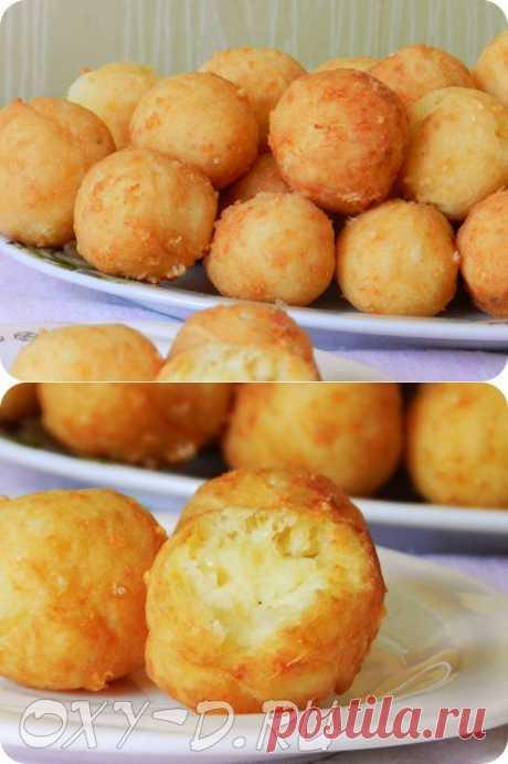 Картофельные пончики с сыром | Просто Вкусно