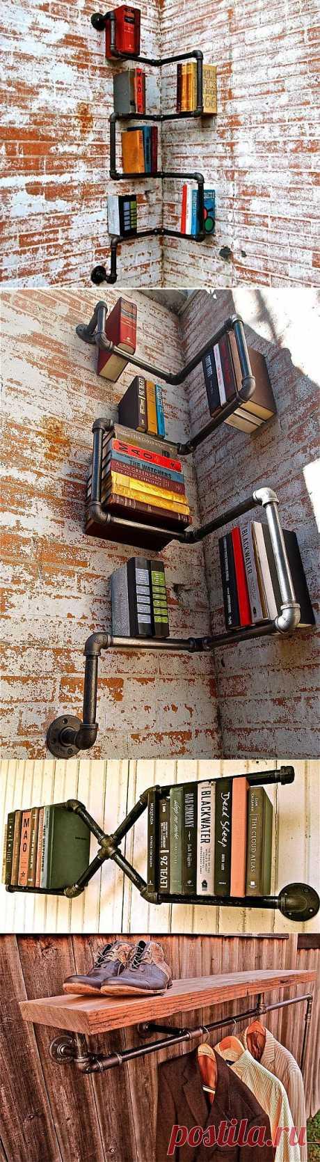 Креативные полки для книг / Книги в интерьере / Модный сайт о стильной переделке одежды и интерьера