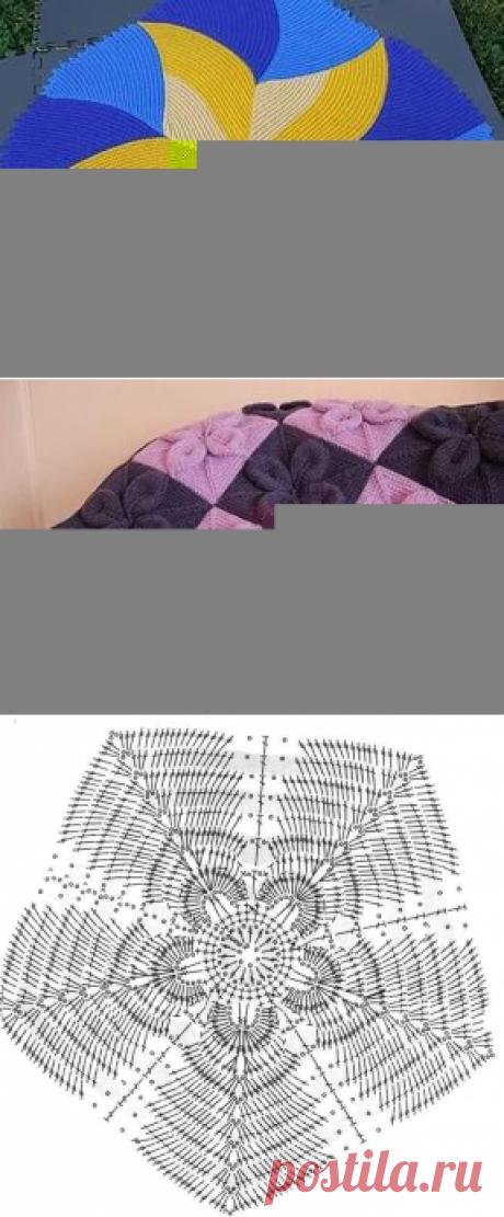 коврик вывязанный цветок спицами описание: 21 тыс изображений найдено в Яндекс.Картинках