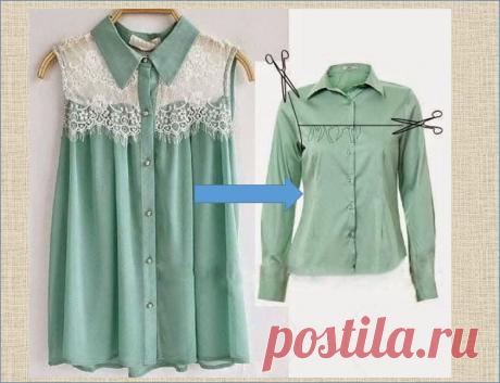Переделка: женская блузка из мужской рубашки - большая подборка с примерами до и после | МНЕ ИНТЕРЕСНО | Яндекс Дзен